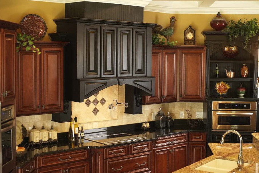 Above kitchen cabinet decor for Hanging cabinet design for kitchen